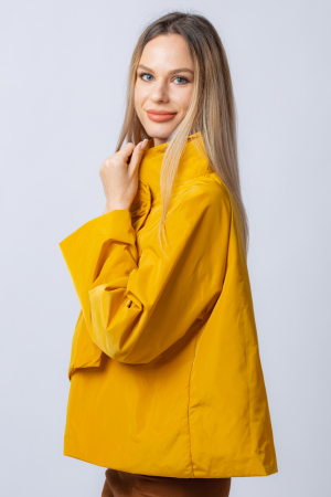 Jacheta scurta din tafta mustar petrecuta in fata [1]
