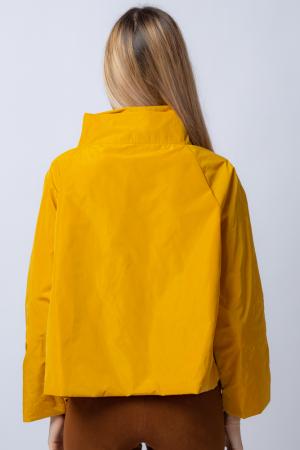 Jacheta scurta din tafta mustar petrecuta in fata [2]