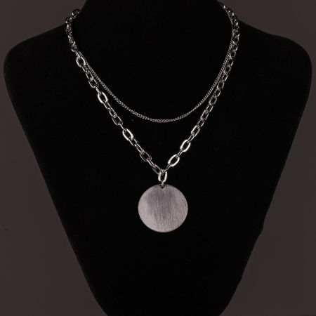 Lanturi cu medalion rotund argintiu1