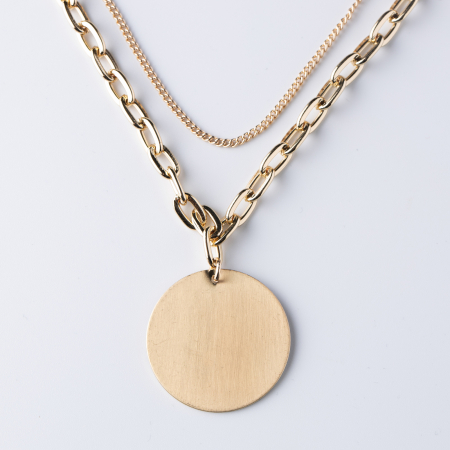 Lanturi cu medalion rotund auriu [0]