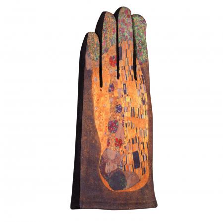 Manusi dama, textil cu imprimeu inspirat din pictura celebra1