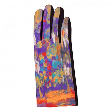 Manusi dama, textil cu imprimeu inspirat din pictura moderna [1]