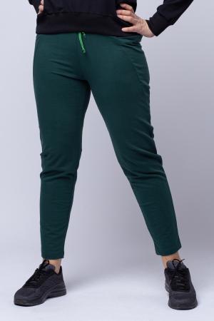Pantaloni sport verzi,din bumbac, cu buzunare laterale [0]