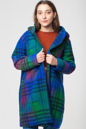Palton captusit lana ecosez predominant albastru0