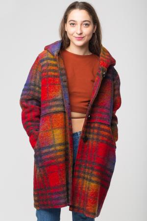 Palton captusit lana ecosez predominant rosu0