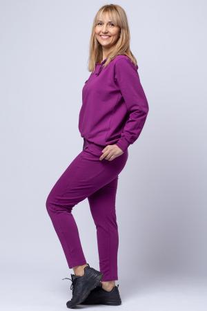 Pantaloni sport din bumbac cu buzunare laterale, din bumbac, mov [1]