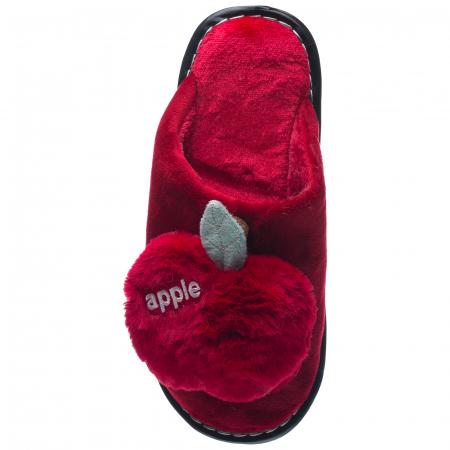 Papuci de casa bordo decoratiune Apple1