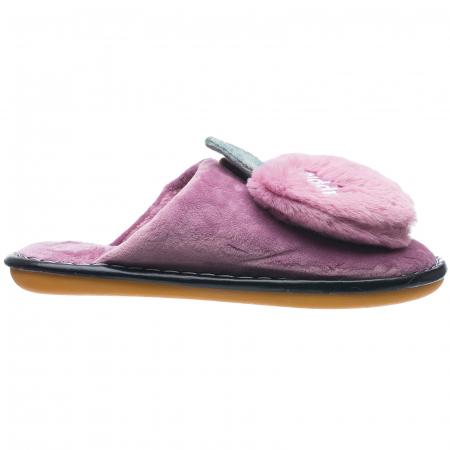Papuci de casa lila cu decoratiune Apple [0]