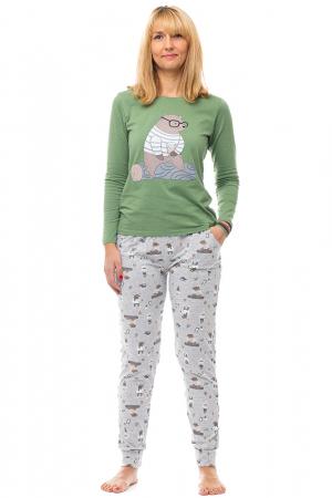 Pijama bumbac doua piese `urs cu ochelari`0