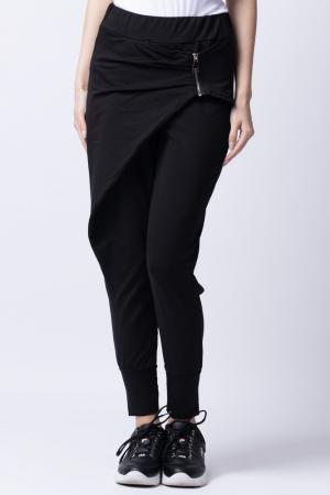 Pantaloni negri moderni cu design deosebit [0]