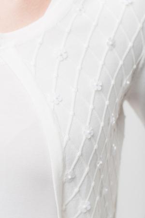 Pulover subtire alb cu paiete1