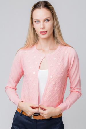 Pulover subtire roz cu paiete0