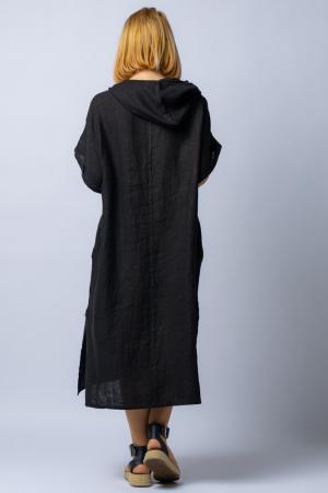 Rochie neagra cu gluga, din in [3]