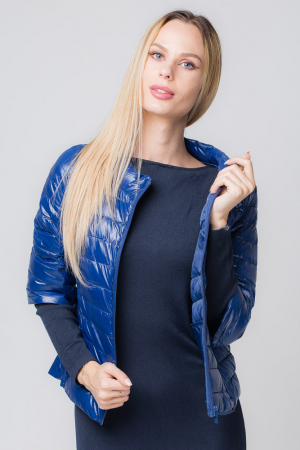Rochie bleumarin lunga tricotata [1]