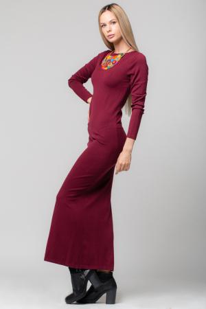 Rochie bordo lunga tricotata [1]
