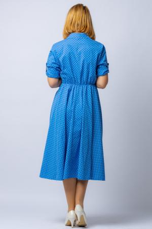 Rochie camasa albatra cu bulinute, din tesatura fina de bumbac [2]