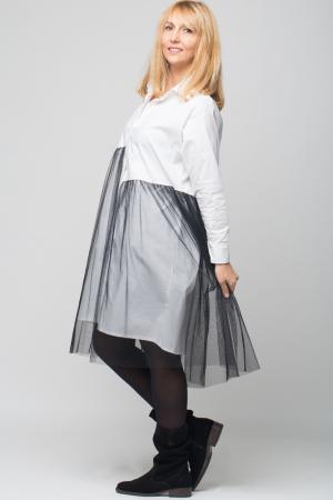 Rochie camasa lunga alba cu tul [1]