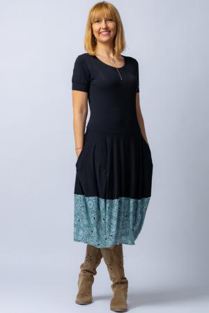 Rochie lalea cu terminatie din vascoza turcoaz [1]