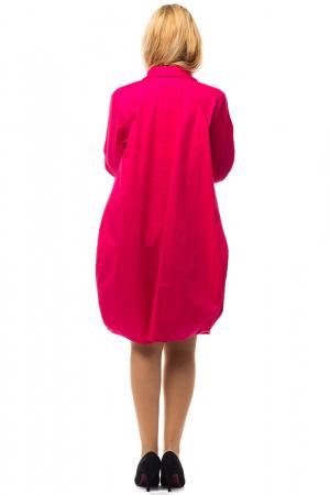 Rochie lalea midi roz fucsia cu guler camasa2