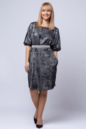 Rochie eleganta, negra cu patina argintie [0]