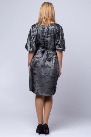 Rochie eleganta, negra cu patina argintie [2]
