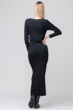 Rochie neagra lunga tricotata1