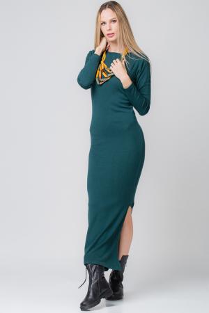 Rochie verde lunga tricotata1