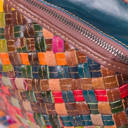 Rucsac multicolor din piele naturala3