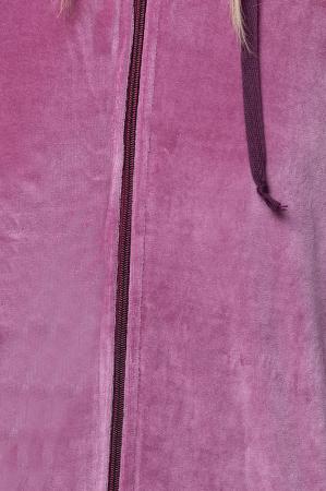 Trening dama doua piese din catifea de bumbac, roz [3]