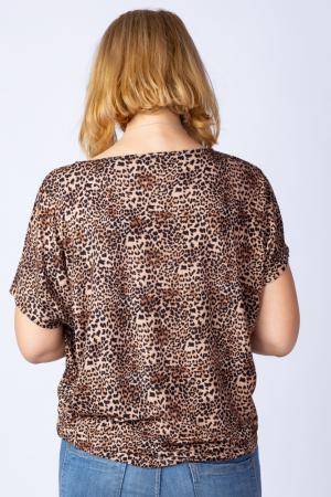 Tricou din vascoza cu imprimeu animal print - leopard [2]