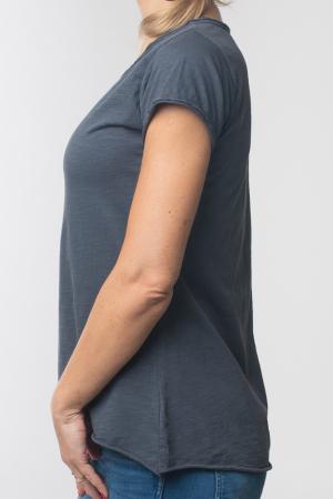 Tricou gri inchis din bumbac cu maneca scurta [1]