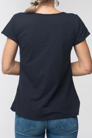Tricou negru din bumbac cu maneca scurta [2]