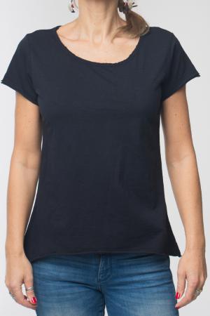 Tricou negru din bumbac cu maneca scurta [4]