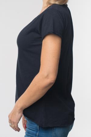 Tricou negru din bumbac cu maneca scurta [5]