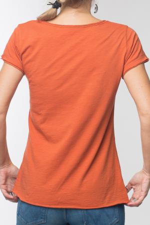 Tricou portocaliu din bumbac cu maneca scurta [6]