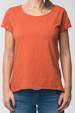 Tricou portocaliu din bumbac cu maneca scurta [4]