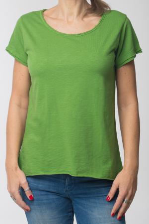 Tricou verde praz din bumbac cu maneca scurta [0]
