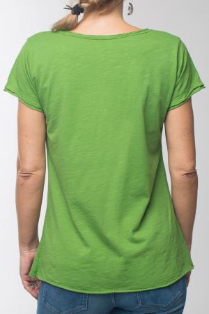 Tricou verde praz din bumbac cu maneca scurta [2]