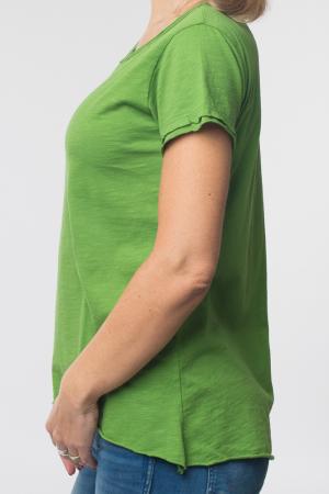 Tricou verde praz din bumbac cu maneca scurta [1]