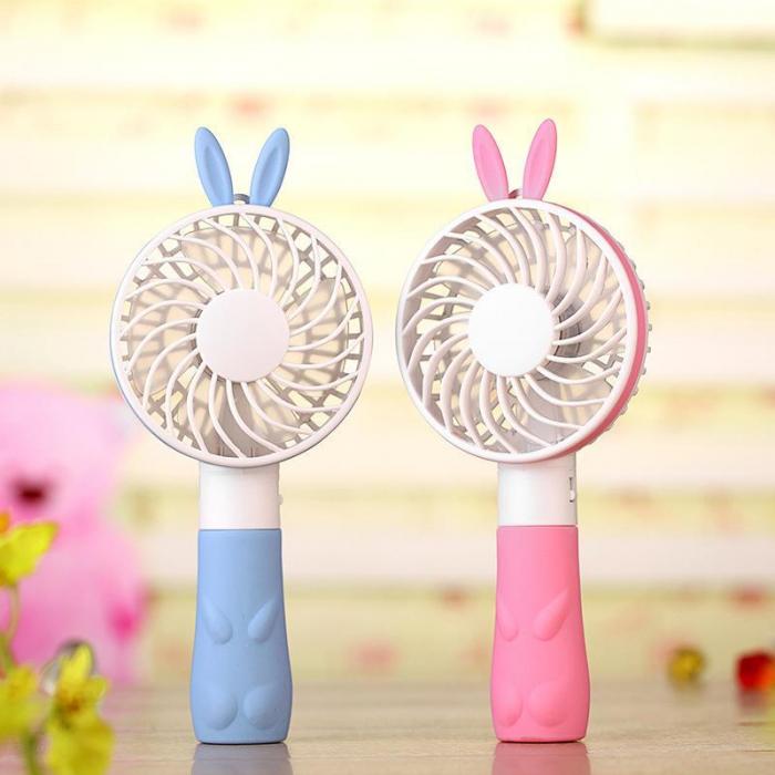 Urechi de iepuras mini ventilator portabil portabil Electric în formă de USB perceput de răcire Fan(Yellow) [1]
