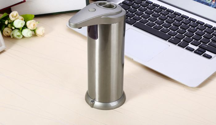 Dozator de Sapun Lichid Metalic cu Senzor 280 ML Capacitate [1]
