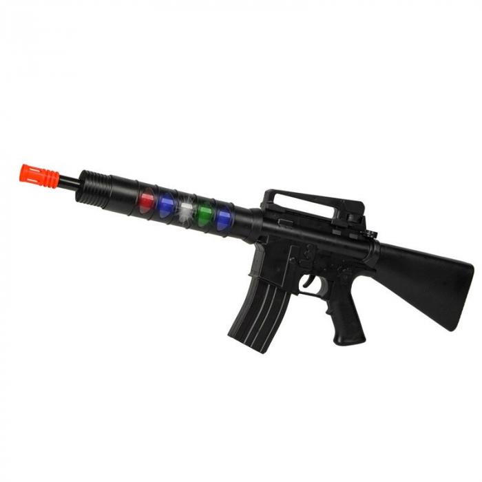Arma de jucarie Police Gun, 75 cm, sunet si lumini, 3 ani+ [3]