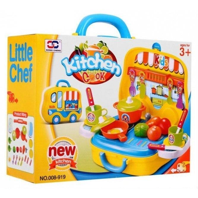 Bucatarie pentru copii, valiza portabila cu roti, JC8915 Xiong Cheng [0]