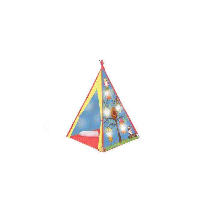 Cort indian cu 10 LED-uri, pentru interior sau exterior, 120x120x160 cm, Multicolor [0]