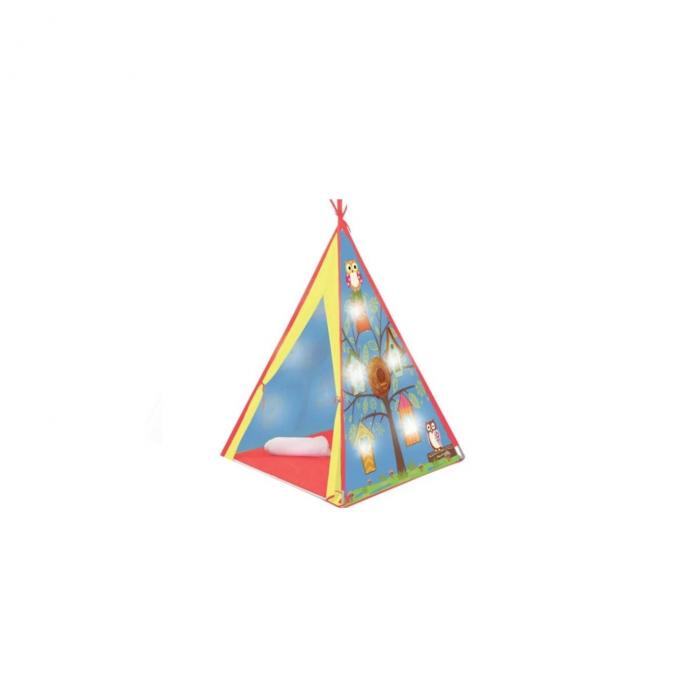 Cort indian pentru copii cu 10 LED-uri, pentru interior sau exterior, 1.2x1.2x1.6 cm, ATS [1]