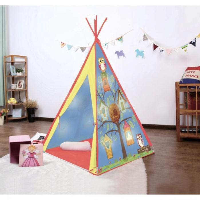 Cort indian pentru copii cu 10 LED-uri, pentru interior sau exterior, 1.2x1.2x1.6 cm, ATS [2]
