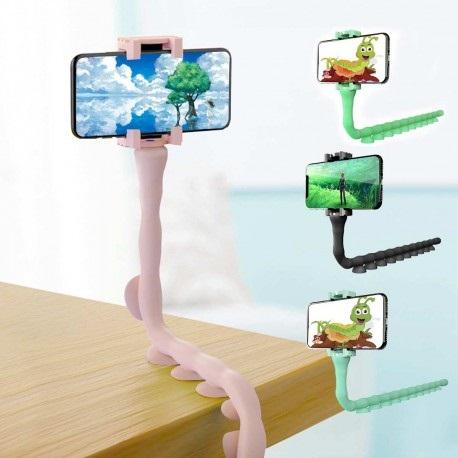 Suport telefon Worms maleabil in orice pozitie cu ventuze de prindere [2]