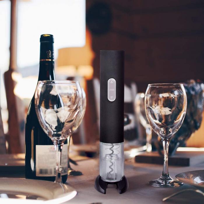Desfacator tirbuson electric automat pentru sticle de vin + dispozitiv inlaturare sigiliu vin [2]