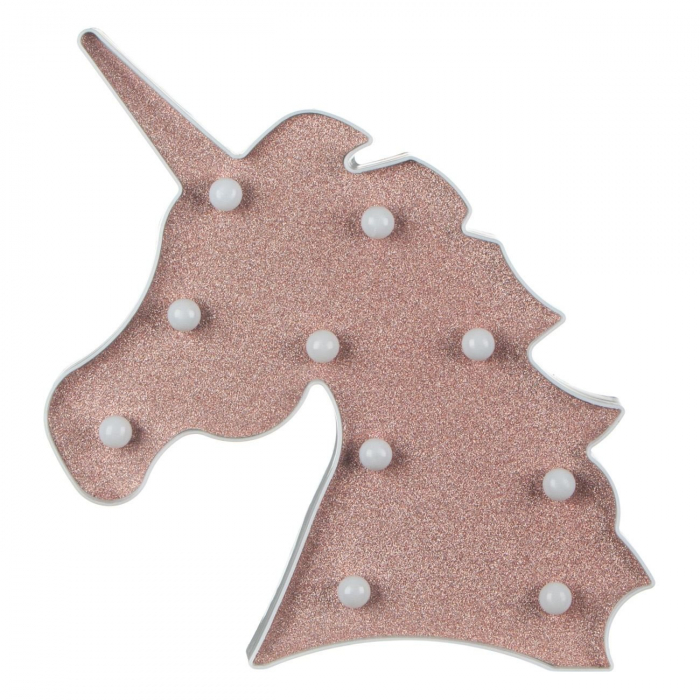 Forma unicorna decorativa iluminata cu 10 LED-uri, Lioness, 25 x 3 x 25 cm [1]