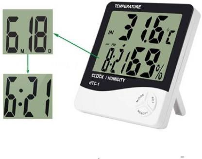 Ceas Digital Cu Termometru Si Higrometru Ecran LCD HTC-1 [1]